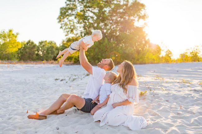 family portraits on the beach sanibel island florida photographer